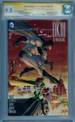 Dark Knight III The Master Race #1 CGC 9.8 Signature Series Signed Frank Miller Sinclair Williams Batman DC comic book